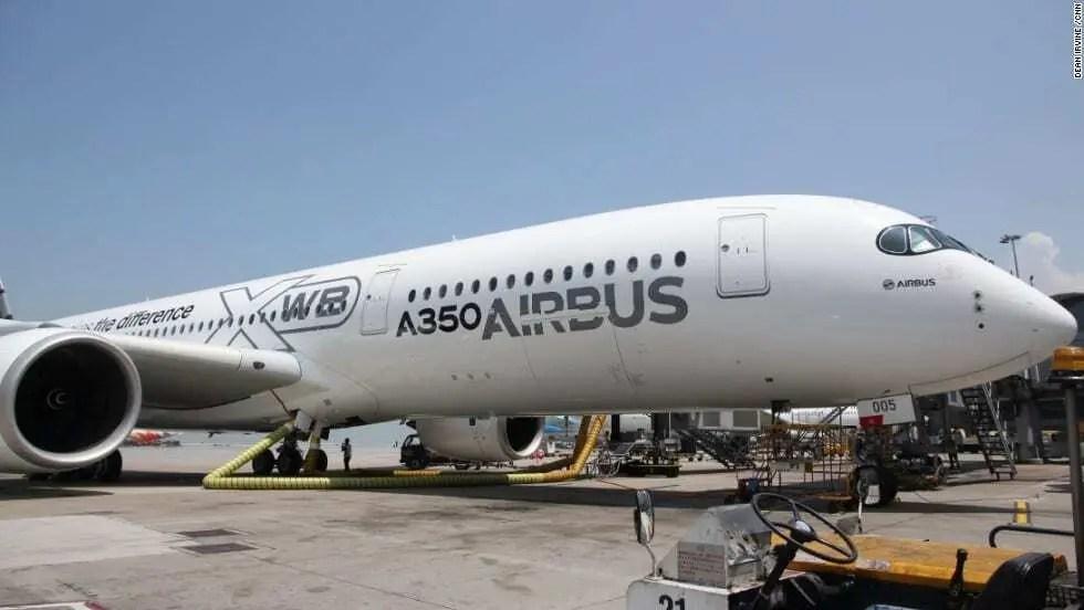 Cadeia de produção de peças do A350 XWB da Airbus com a Stratasys