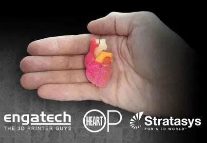 Stratasys colabora com a medicina no projeto 3DHEART