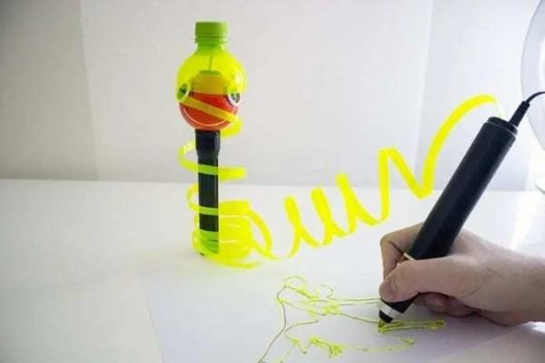 Caneta 3D utiliza material reciclável como matéria prima