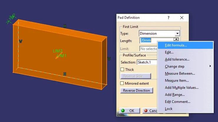 CATIA V5 - Veja como criar fórmulas no CATIA V5