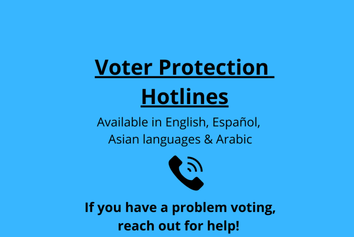 voter protection hotlines available