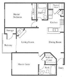 Example Of  Bed  Bath Apartment  Sq Ft