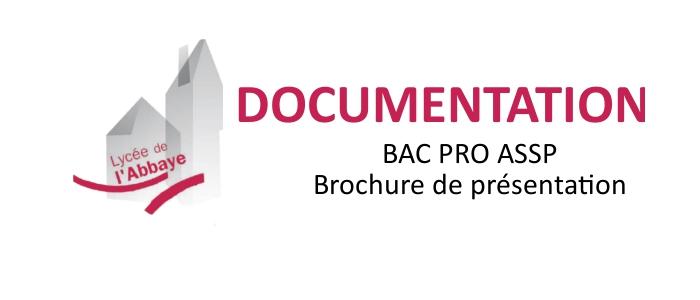 BAC PRO ASSP – Documentation disponible