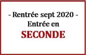 Read more about the article Inscription des entrants en classe de Seconde à la rentrée 2020 !