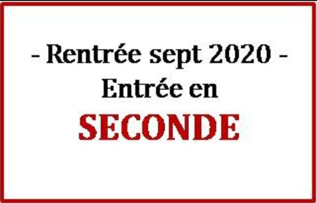You are currently viewing Inscription des entrants en classe de Seconde à la rentrée 2020 !