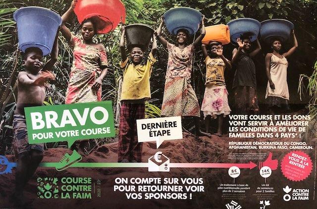 You are currently viewing Une course contre la faim qui a permis de récolter la somme conséquente de 830 euros !