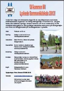 Inbjudan sommarskidskola 2013