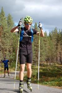Johan Nilsson på rullskidbanan i stensele