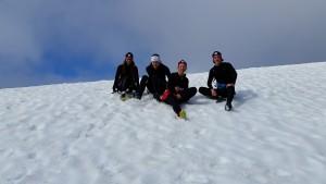 Skidåkare älskar snö!