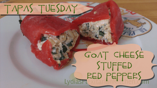 Tapas Tuesday: Roasted Red Peppers and Goat Cheese