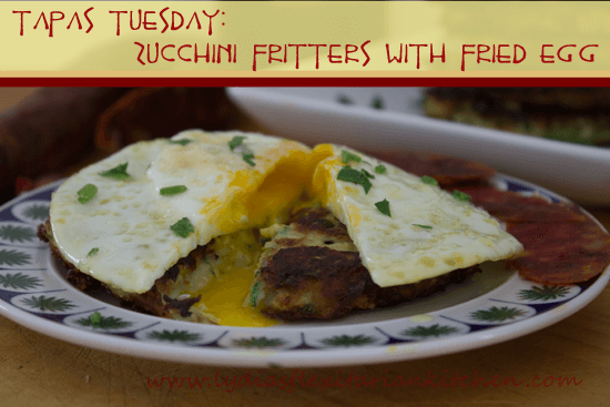 zucchini fritters with fried egg