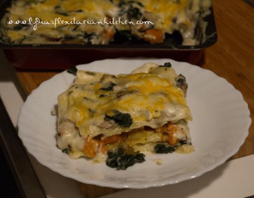 lasagna pan and plate