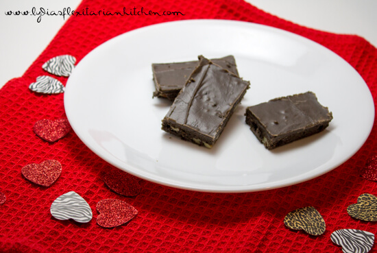 Frosted Brownies ~ Lydia's Flexitarian Kitchen
