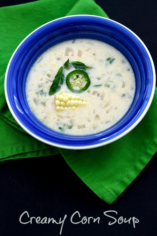 Creamy Corn Soup ~ Lydia's Flexitarian Kitchen