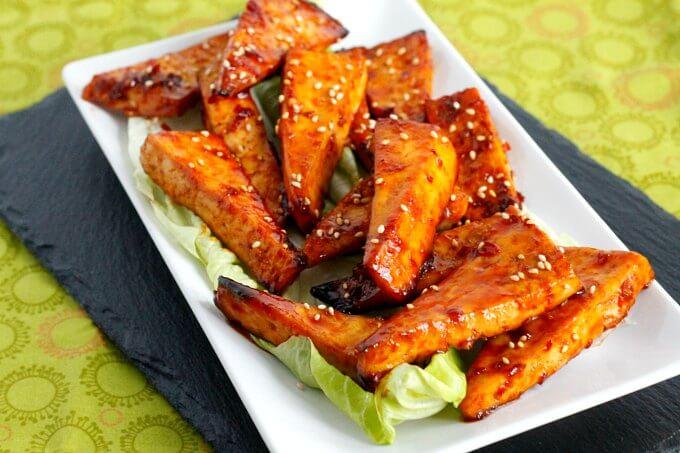 "Korean BBQ Tofu ""Wings"" ~ Lydia's Flexitarian Kitchen"