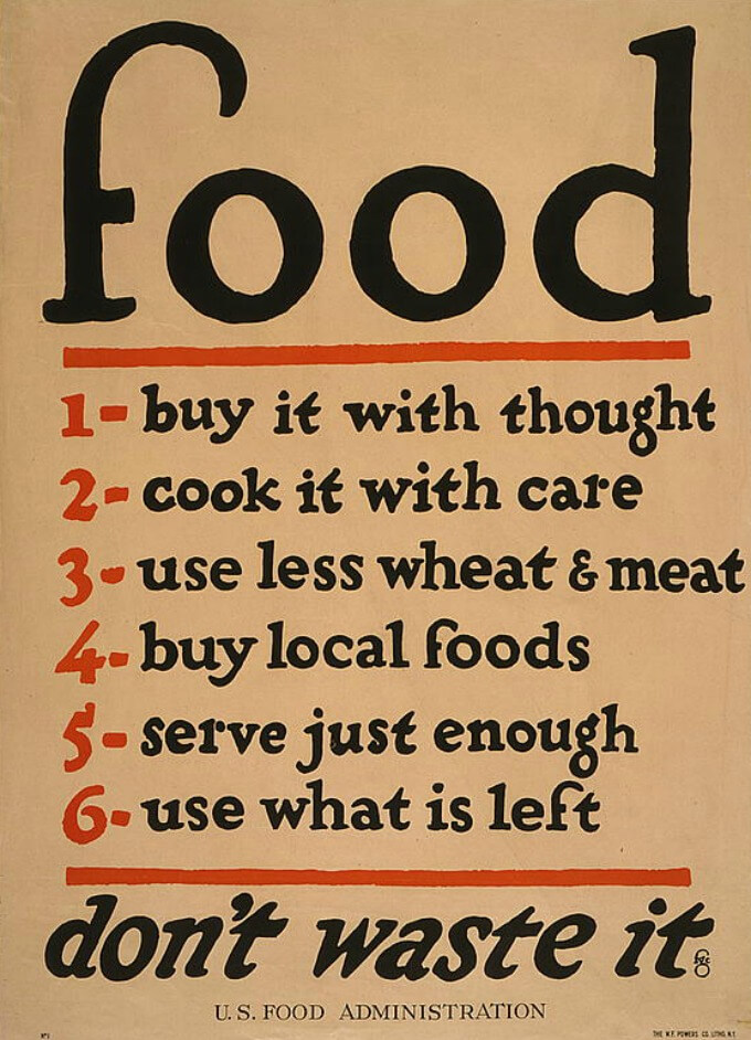 Vintage Food Poster (WWI) from the Library of Congress Website