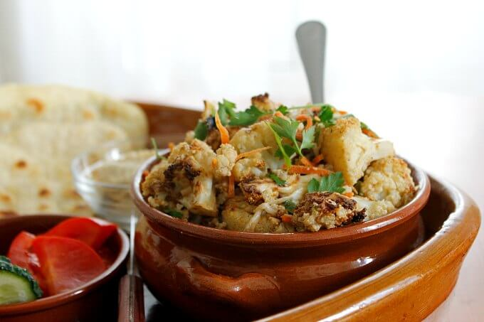 Lebanese Style Cauliflower ~ Food of the World ~ Lydia's Flexitarian Kitchen #veggie #cauliflower #Lebanese
