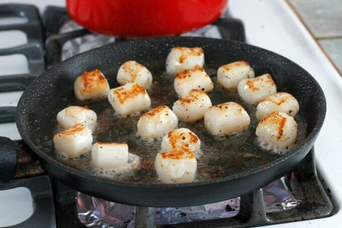 Scallops With Chimichurri Sauce ~ Lydia's Flexitarian Kitchen