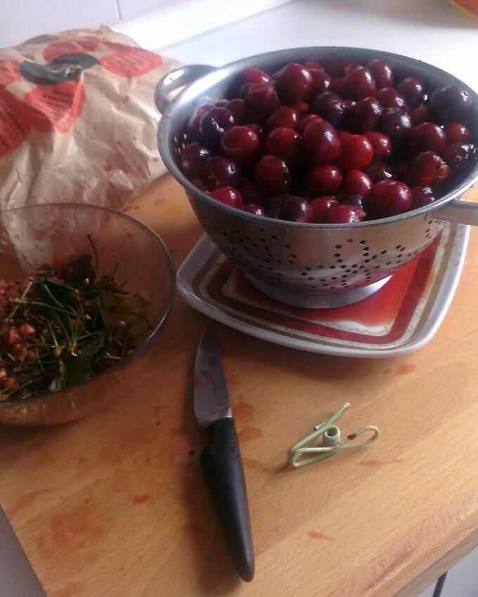 Small Batch Cherry Jam ~ Lydia's Flexitarian Kitchen