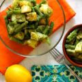 Oil Free Potatoes and Green Beans with Pesto ~ Lydia's Flexitarian Kitchen