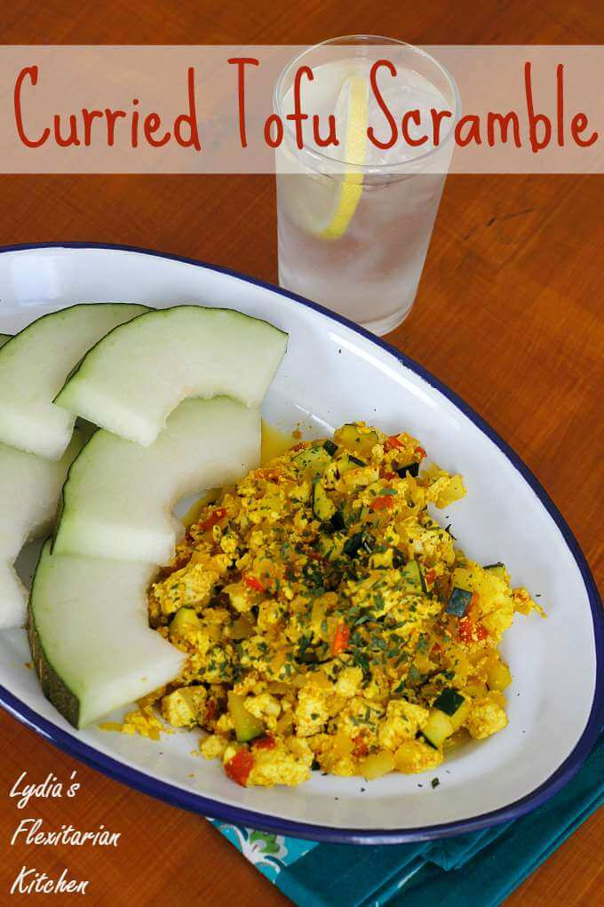 Curried Tofu Scramble ~ #Meatless Mondays ~ Lydia's Flexitarian Kitchen