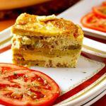 Breakfast Lasagna ~ I Heart Cooking Clubs ~ Nov 2015 ~ Giada de Laurentiis ~ Lydia's Flexitarian Kitchen