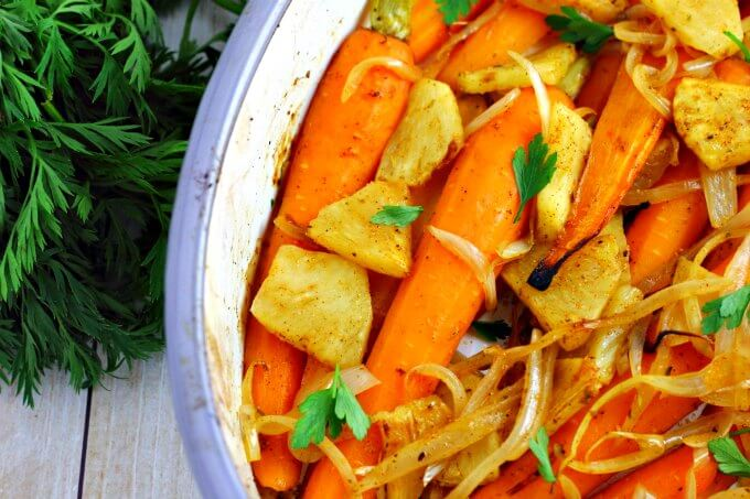 Roasted Carrots and Pineapple ~ Lydia's Flexitarian Kitchen