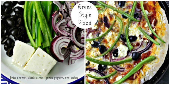 Pizza Fantasy Night ~ Greek Style Pizza ~ Lydia's Flexitarian Kitchen