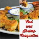 Cod and Shrimp Croquetttes ~ #TheRecipeReDux ~ Lydia's Flexitarian Kitchen
