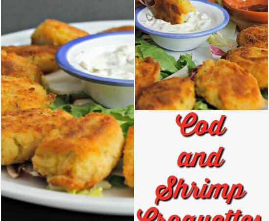 Easy Cod and Shrimp Croquettes