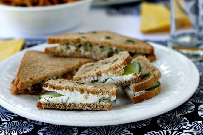 Tea Sandwiches al Fresco ~ Two Light and Fresh Choices ~ #TheRecipeReDux ~ Lydia's Flexitarian Kitchen