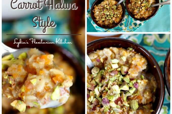 Carrot Halwa Oatmeal {#TheRecipeReDux}