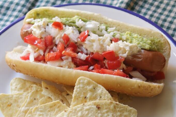 The Completo A Chilean Style Hotdog ~ Food of the World ~ Lydia's Flexitarian Kitchen