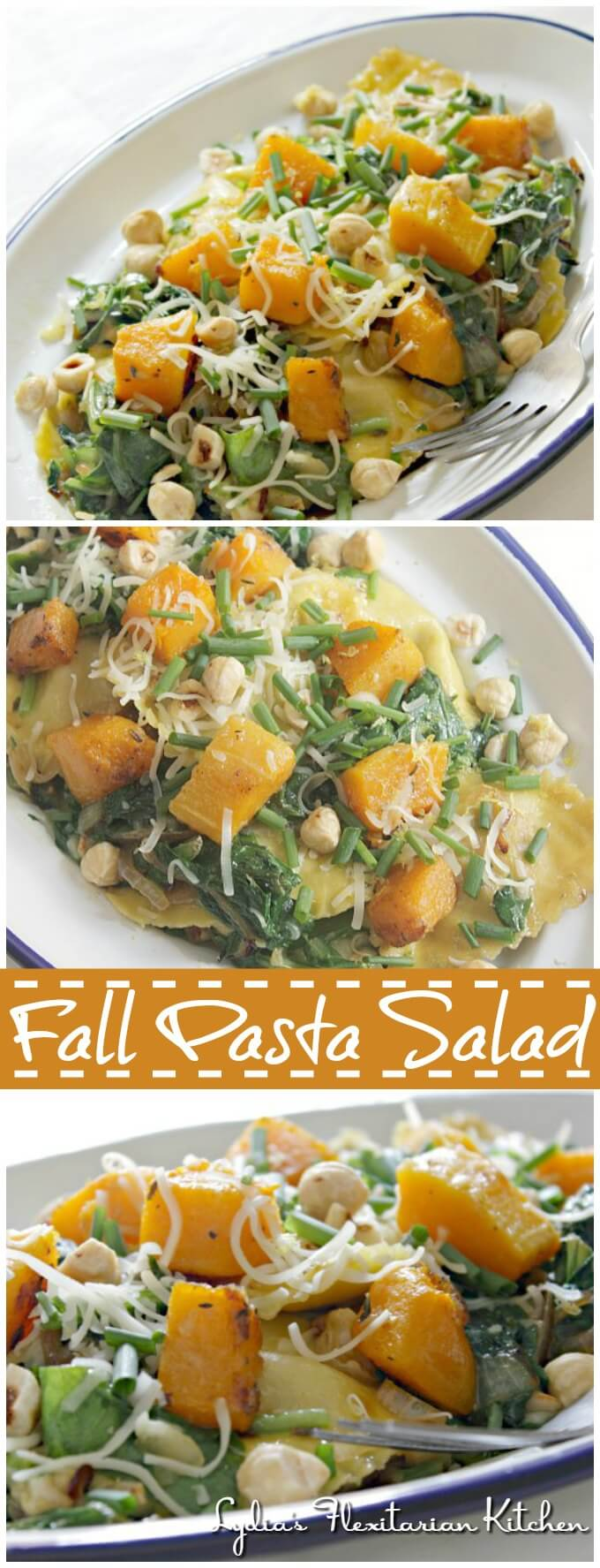 Fall Pasta Salad ~ I Heart Cooking Clubs ~ Lydia's Flexitarian Kitchen
