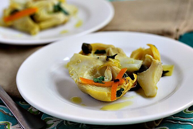 Artichokes With Orange And Capers