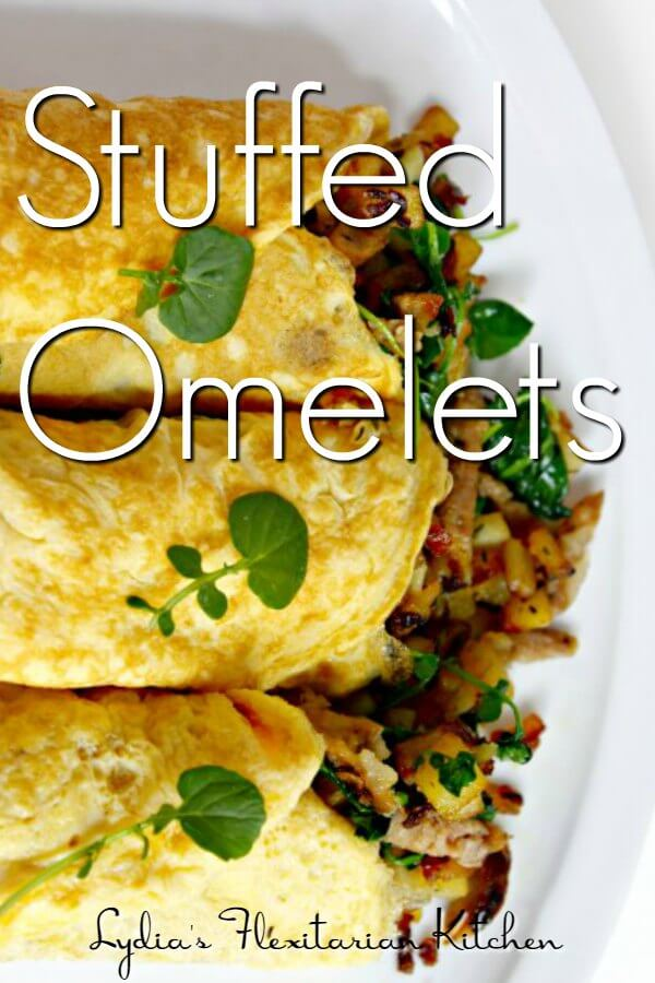 Stuffed Omelets ~Crepe thin eggs you can fill however you like! ~ Lydia's Flexitarian Kitchen