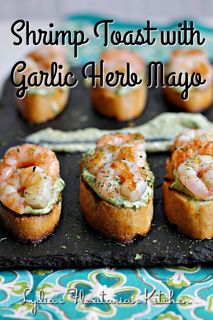 Great for a snack or as part of a larger buffet. Serve Shrimp Toast with Garlic Herb Mayo at your next get together!