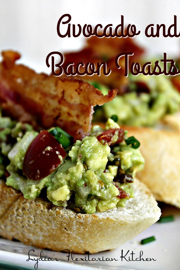 If you're a guacamole fan you'll love these quick to make avocado and bacon toasts. You'll love these toasts as a snack or alongside a bowl of soup or salad. The most difficult part is not eating the bacon!