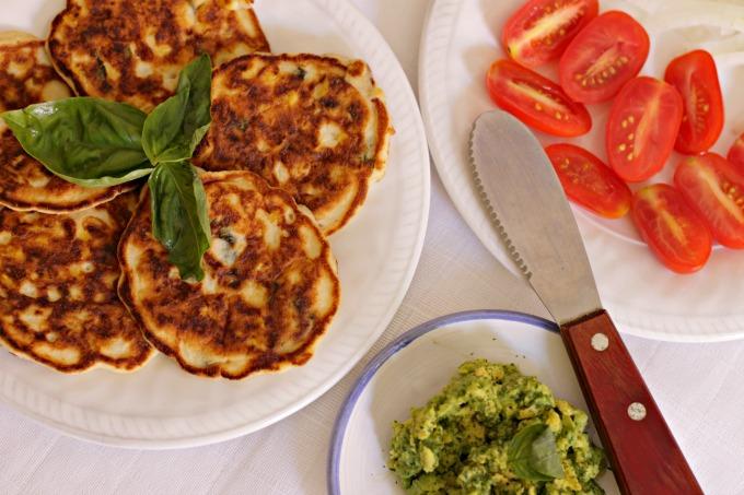 Coconut Flour Basil and Corn Cakes ~ A Low(er) Carb Option ~ Lydia's Flexitarian Kitchen