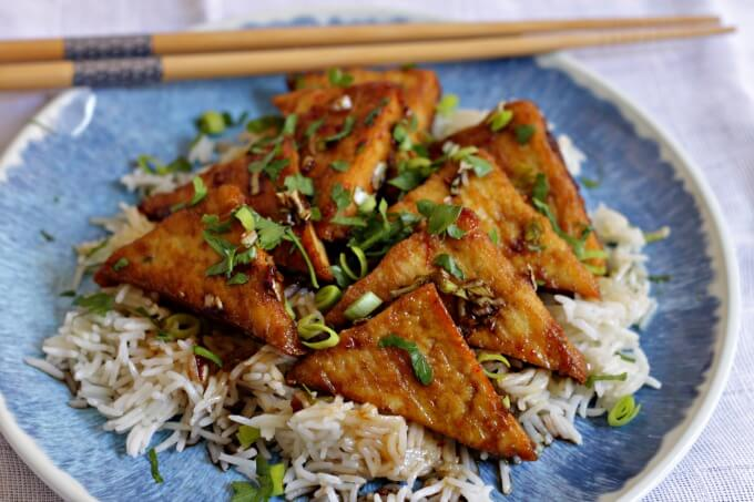 Honey Garlic Tofu ~ Lydia's Flexitarian Kitchen
