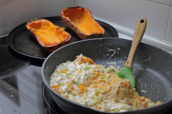 Butternut Squash Stuffed with Leeks & Hazelnuts ~ Lydia's Flexitarian Kitchen