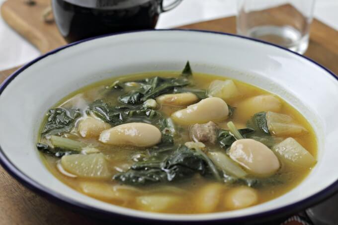 Caldo Gallego ~ #CaminoFlavors ~ Lydia's Flexitarian Kitchen