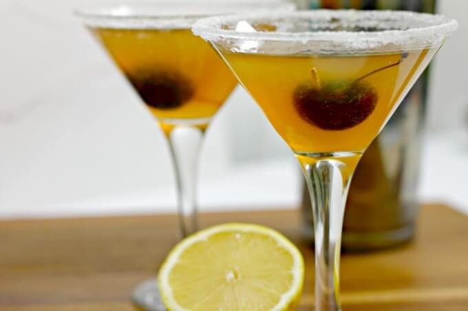 The Sidecar Cocktail ~ Make a batch and serve to holiday guests ~ Lydia's Flexitarian Kitchen
