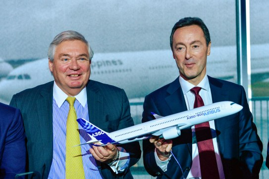 John Leahy, Airbus Chief Operating Officer- Customers and Fabrice Bregier, Airbus President and CEO at Airbus Annual Press Conference.