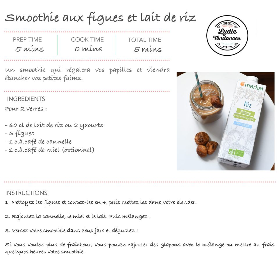 recette smoothie figues
