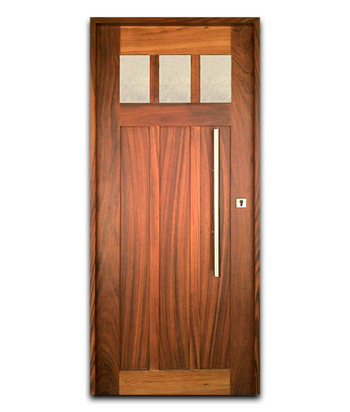 Puertas de madera solida de parota con ventana mod for Puertas de madera estilo antiguo