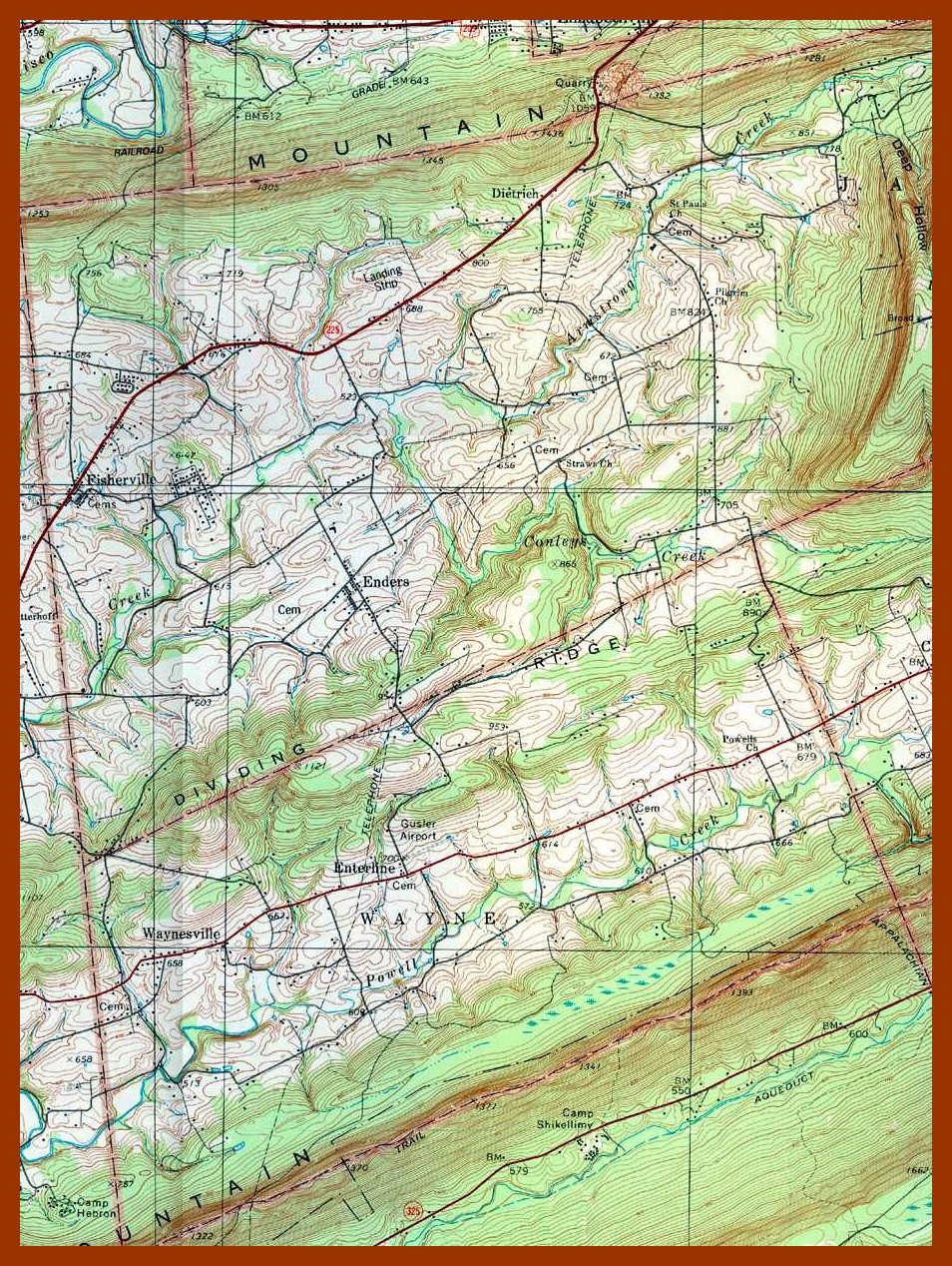Wayne Township Western Jackson Township Topographical Map