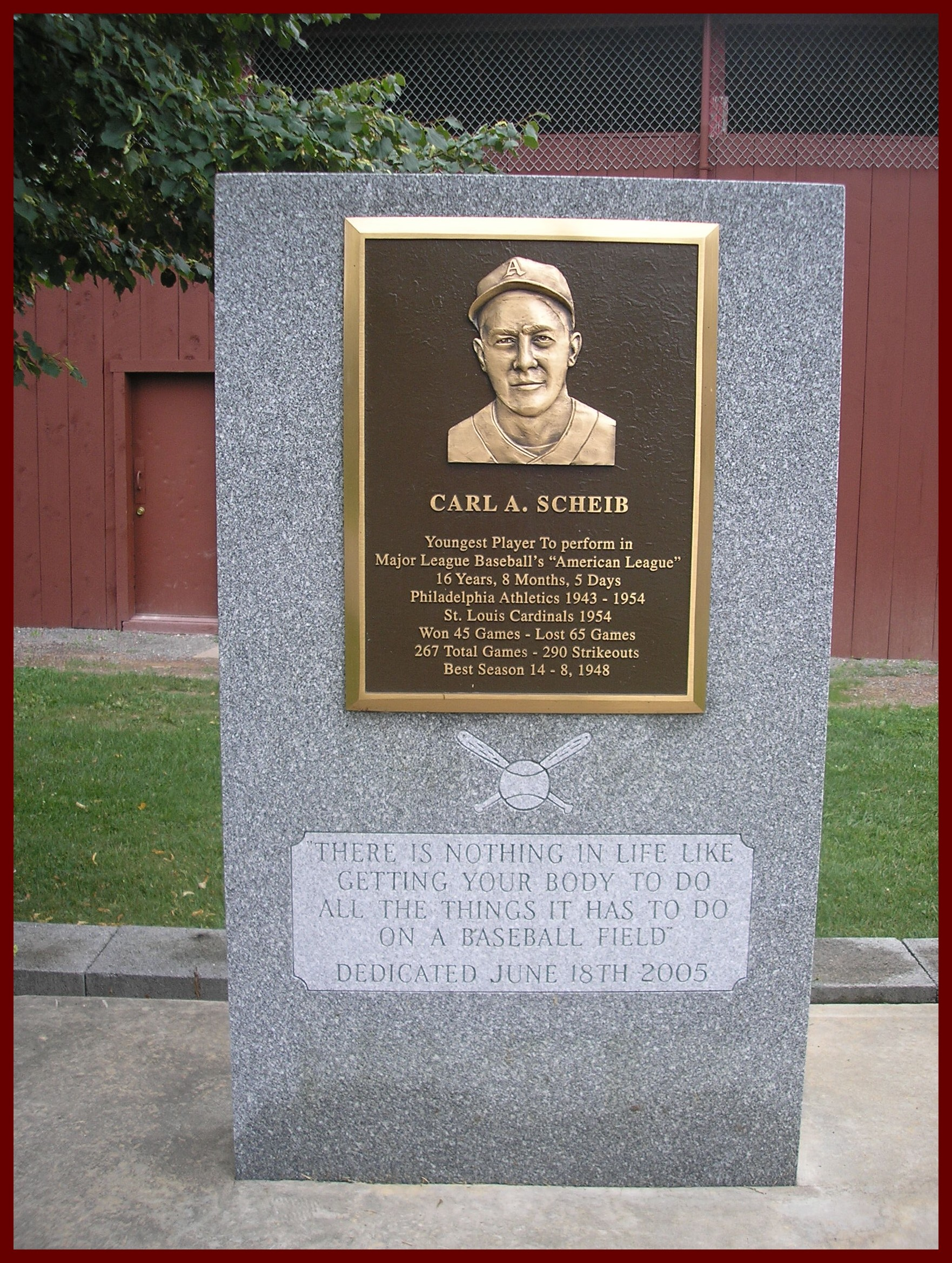 Gratz Carl A Scheib Monument Dedicated 2005