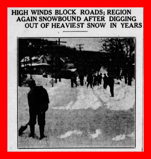 Blizzard of January 1936 – Digging Out – Lykens Valley