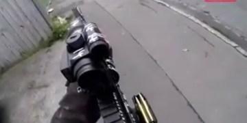 FOTO: Skjermdump fra video av terrorangrepet i Christchurch.